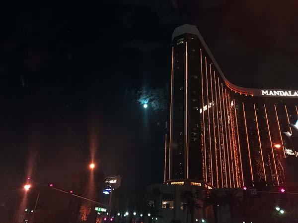 Mandalay Bay by a full moon - Las Vegas, NV