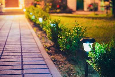 Security Precautions: Lights - illuminate bushes and dark corners for extra security